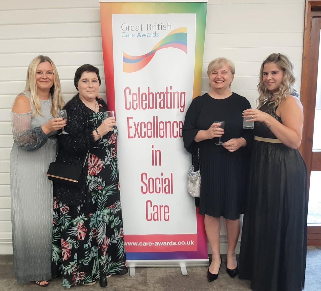 Ashview Nursing Home celebrates reaching the GBCA finals.